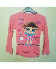 """LOL"" shirt 34 roze"