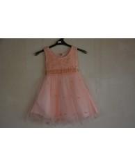 jurk met tule en parels