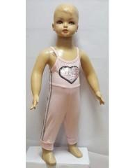jumpsuit roze met hart